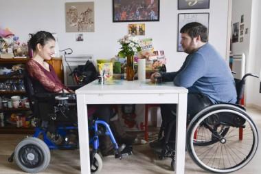 Marion Le Gac et son mari, Christopher Padox . Résidence Ti'Hameau à Cherbourg