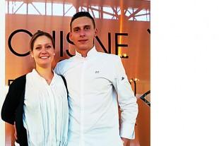 Elodie Ouchelli et Thibaud  Etienne, lauréats du concours des chefs de Saint-Vit.