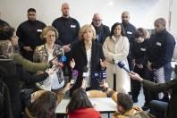 Déplacement de Valérie Pécresse au lycée Frédéric Bartholdi à Saint Denis