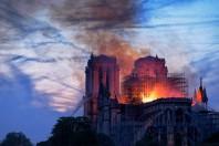 Notre-Dame en feu