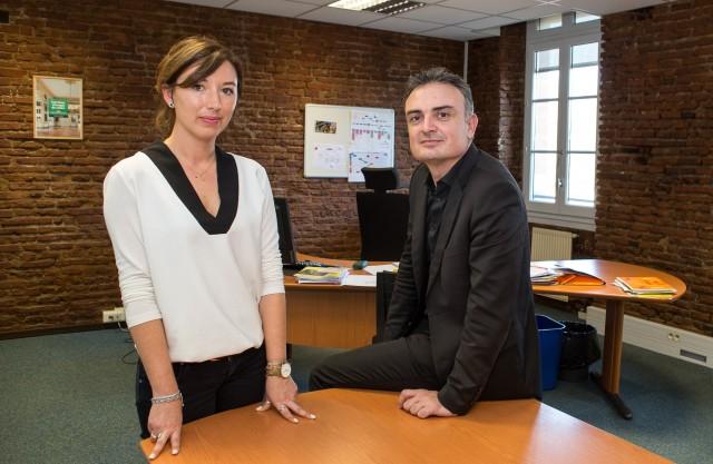 Toulouse Ville et Métropole - Mme Senecal, responsable stratégie et solutions et Mr Manoncourt, directeur général adjoint ressources