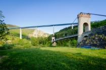 Vue du viaduc du Lignon où passe la RN88 depuis le pont de Confolent (commune de Beauzac) © Arnaud Bouissou - Terra