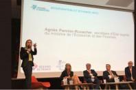 Agnès Pannier-Runacher, Secrétaire d'Etat auprès du ministre de l'Economie et des Finances, le 12 juin lors du séminaire Territoires d'industrie organisé par l'ADCF et Régions de France