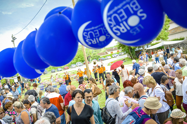 Le festival des Soirs bleus en juin 2018 à Mouthiers-sur-Boeme (Charente) © William Denizet