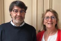 Frédéric Maurin et Cécile Le Vaguerèse-Marie LOW, Nouveaux coprésidents du Syndicat national des scènes publiques - SNSP-55