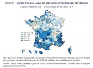 Localisation emplois locaux collectivités France Stratégie Juin 2019