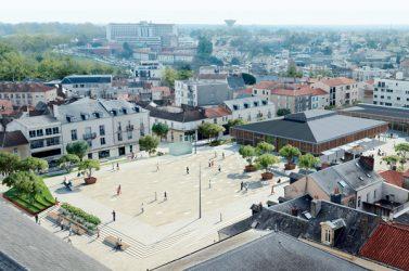 La future place centrale du quartier des Halles, à La Roche-sur-Yon.