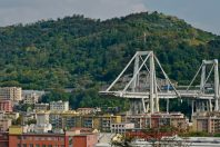Le viaduc de Gênes, qui s'est en partie effondré en août 2018.