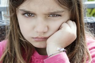 enfant pas content