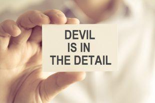 Le diable est dans les détails