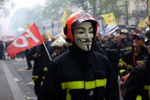 manifestation sapeurs-pompiers