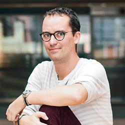 Damien Pfister, directeur de la communication