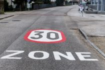 for traffic calming a speed limit was introduced. tempo 30 zone in city traffic