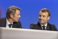 François Baroin et Emmanuel Macron, lors du dernier congrès des maires en 2019