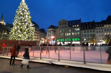 Au marché de Noël de Strasbourg.