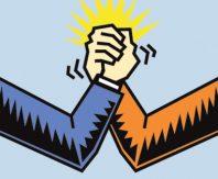 Bras de fer-conflit-duel
