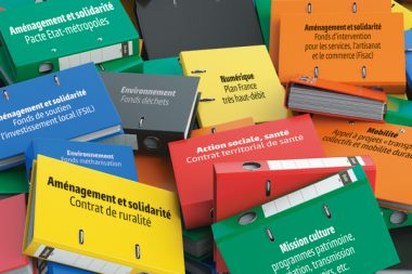 File binders or folders with documents. Paperwork office colourful background. 3d illustration