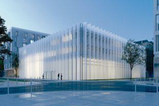 Le futur bâtiment de l'Institut méditerranéen du risque de l'environnement et du développement durable, sur l'écocampus de la technopole Nice-Méridia, dans la plaine du Var, à l'ouest de Nice, a bénéficié du contrat de plan Etat- région.