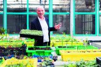 """Dominique Barreau, chef de projet """"agriculture et alimentation"""" à Nantes métropole, sous les serres de la ferme urbaine de l'Agronaute, située dans l'ancien MIN sur l'île de Nantes."""