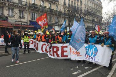 manifestation pompiers 28 01 2020 Paris
