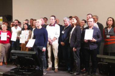 Remise des certificats avec les gestionnaires des sites labellisés en 2019.