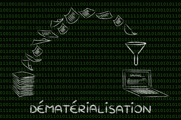 dématérialisation (paperless office): scanning documents and t