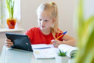école à la maison cours à distance enfant