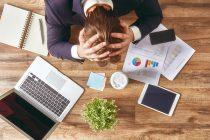 businessman in panic