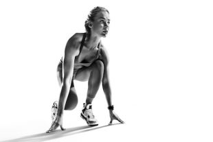 Femme athlète sport