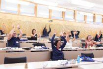Fin de la 7 session de la Convention citoyenne sur le climat, avant la remise de leur 150 propositions au gouvernement.