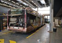 Un bus à hydrogène en cours de maintenance