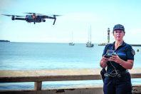 Audrey Labrousse, brigadière-cheffe principale et pilote de drone à la police municipale de Cannes