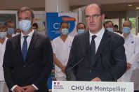 Jean Castex et Olivier Véran à Montpellier