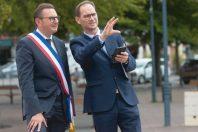 Le maire d'Arras, Frédéric Leturque, et le DGS de la ville, Fabrice Bailleul