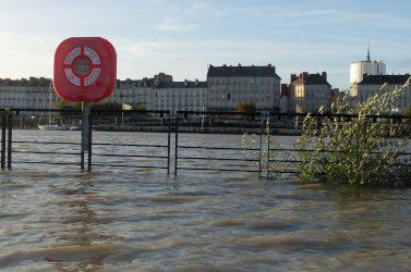 Grande marée de la Loire à Nantes