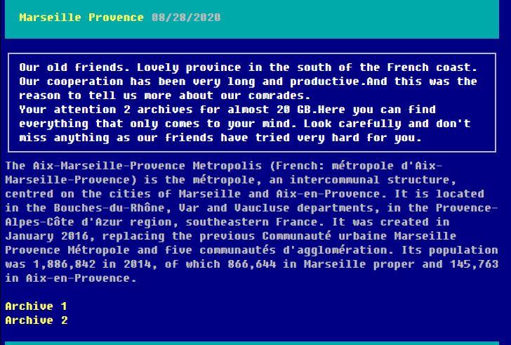 Capture d'écran du site proposant le téléchargement de plusieurs documents