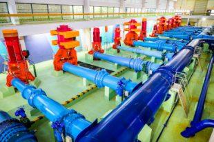 Salle des pompes de l'usine des eaux Croix Luizet au Grand Lyon