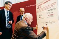 Le président de la région Aquitaine, Alain Rousset, a signé en novembre 2018 l'accord de financement du fonds avec les représentants de l'Europe.