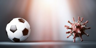 football vs coronavirus COVID-19.