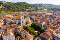Aerial view on the city Agen. France