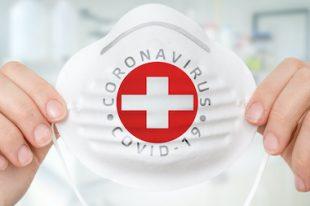 Masque Suisse - Coronavirus COVID-19 concept