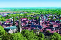 obernai vue panoramique toitures touristique alsace kazy