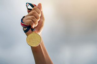 médaille d'or sport champion