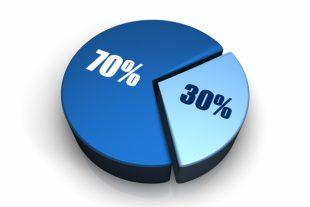 70 % - 30 %