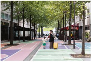 "Embellir Paris : Oeuvre ""Active Bercy"", rue Henri Desgrange, 75012"
