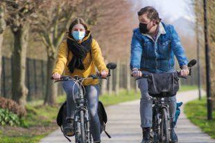 Véloroute à Dunkerque, sur voie verte