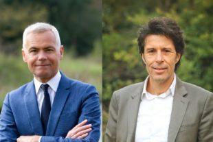 Christophe Bouillon, Président de l'APVF, Maire de Barentin (76), et Pierre Aschieri, Président de la Commission écologie de l'APVF, Maire de Mouans Sartoux (06).