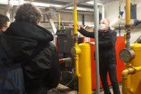 Les élèves sont invités à descendre dans les chaufferies pour voir comment fonctionne le système de chauffage