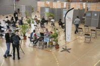 Le gymnase de Noisy-le-Sec, transformé en centre de vaccination.