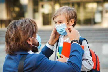 Masque enfant école